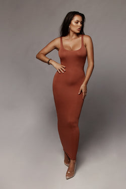 Ginger Leeya Scoop Neck Maxi Dress