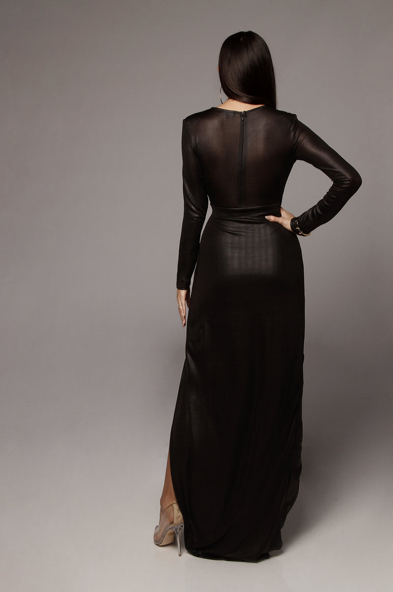 Black Beatriz Keyhole Maxi Dress