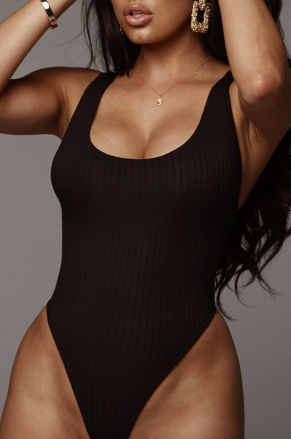 Black Airys Low Back Bodysuit