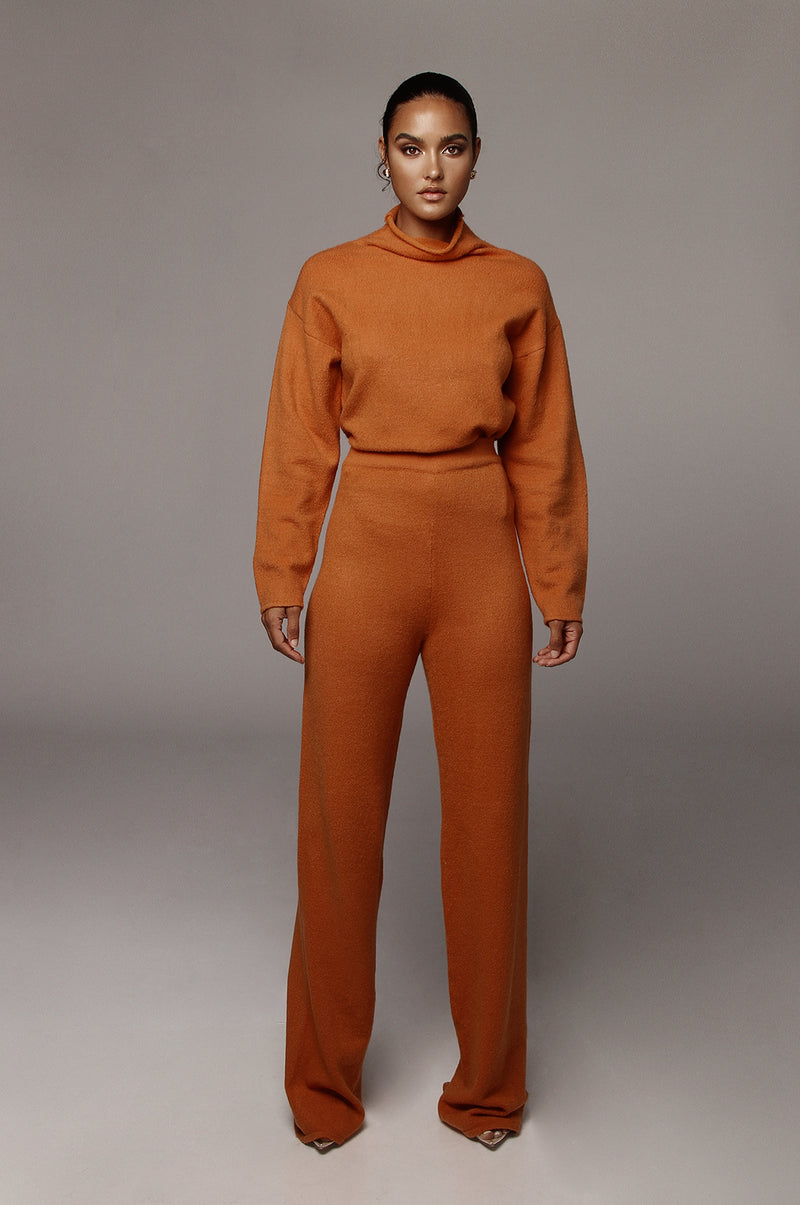 Rust Elle Sweater Pants