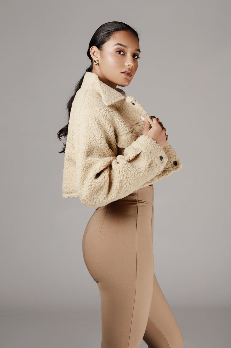 Tan Delaney Faux Fur Coat