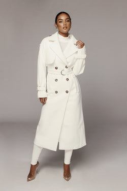 White Beverly Trench Coat