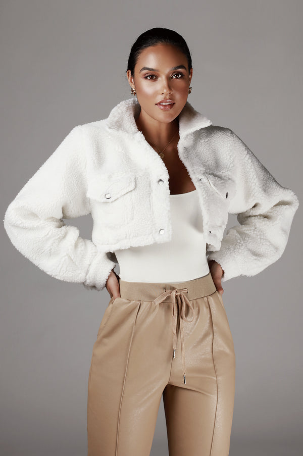 Ivory Delaney Faux Fur Coat