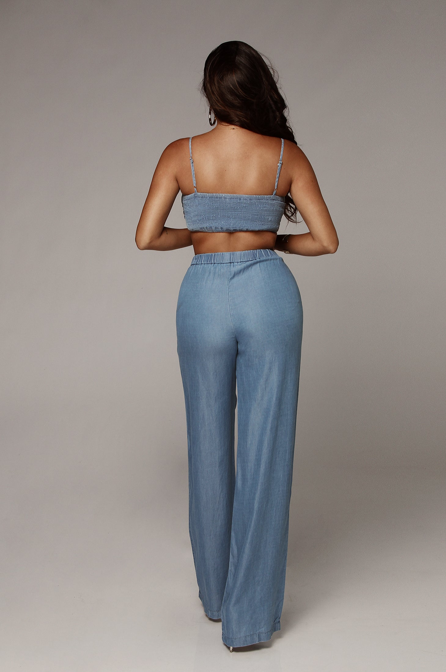 Chambray Bow Pant Set