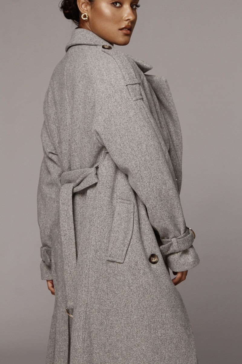 Grey Beverly Trench Coat