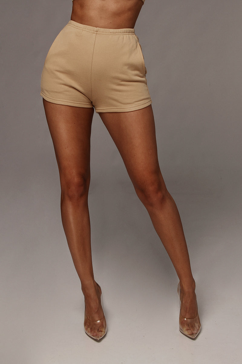 Tan Dash Sweat Shorts