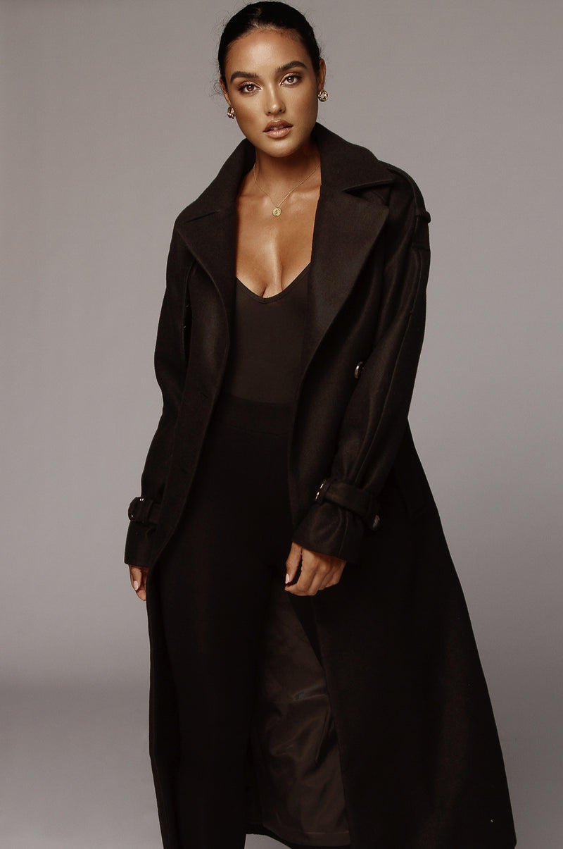 Black Beverly Trench Coat