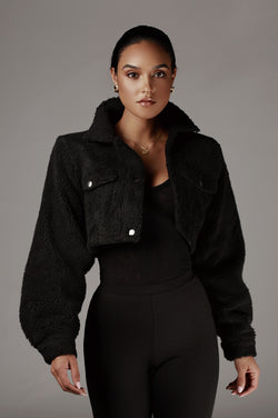 Black Delaney Faux Fur Coat