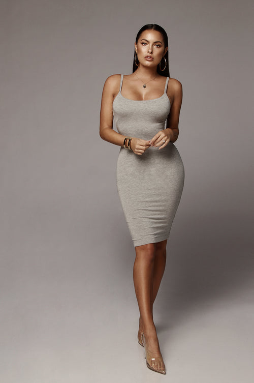 Grey New Jersey Double Lined Dress