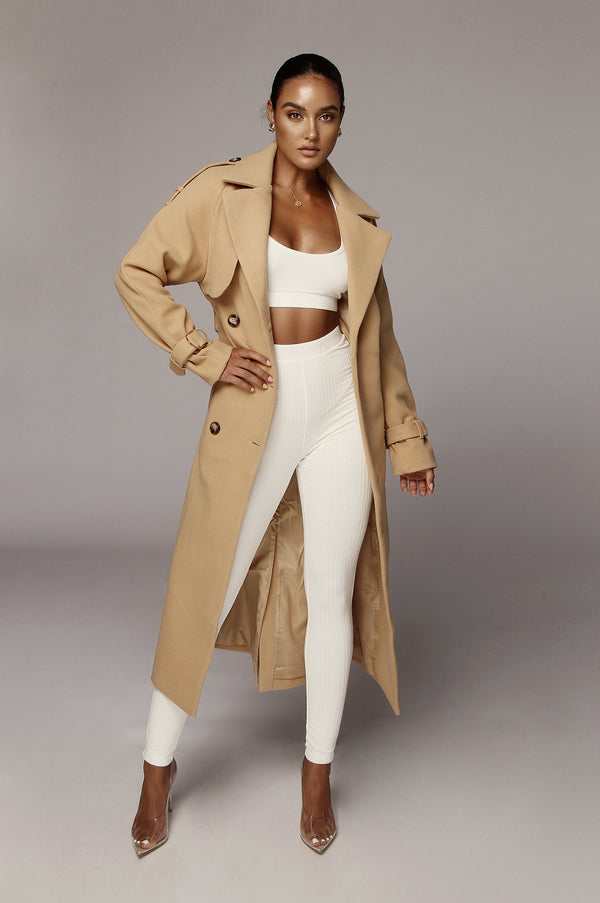 Tan Beverly Trench Coat