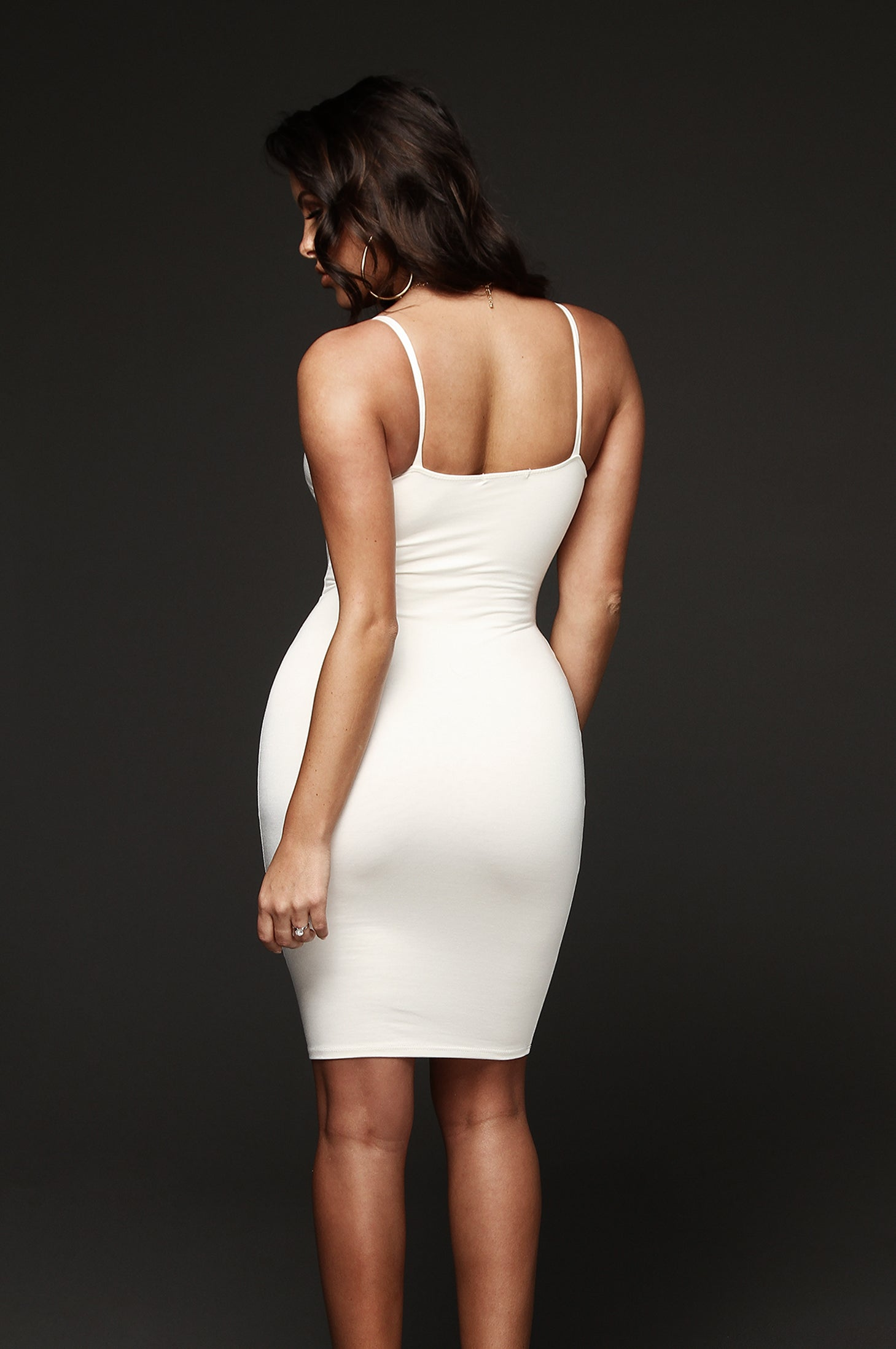 White New Jersey Double Lined Dress
