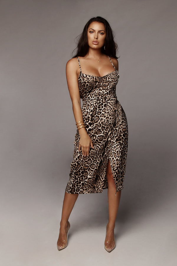 Nivea Leopard Slip Dress