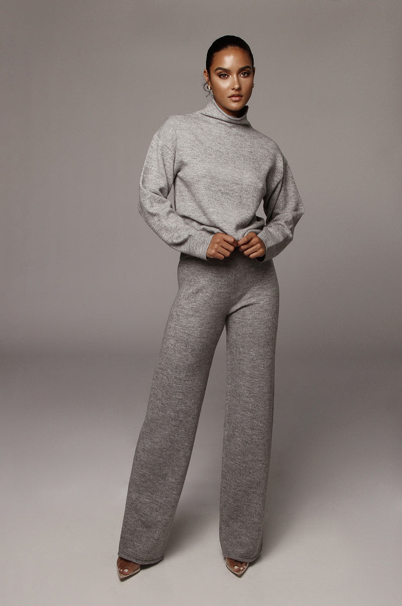 Grey Elle Sweater Pants