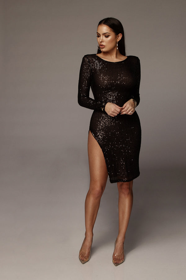 Black Onyx Sequin Dress