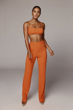 Orange Pancer Ribbed Set