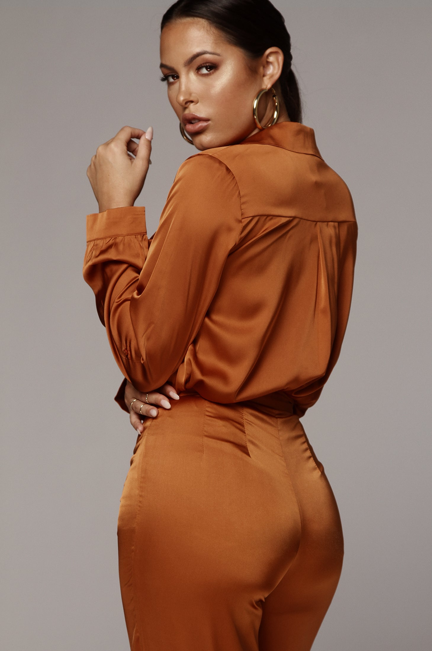 Rust Perfect Silk Blouse