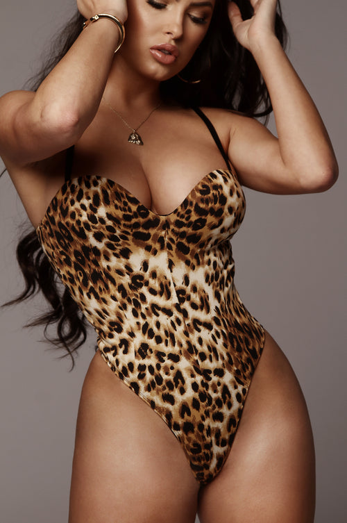 Cheetah Kayla Sweetheart Bodysuit