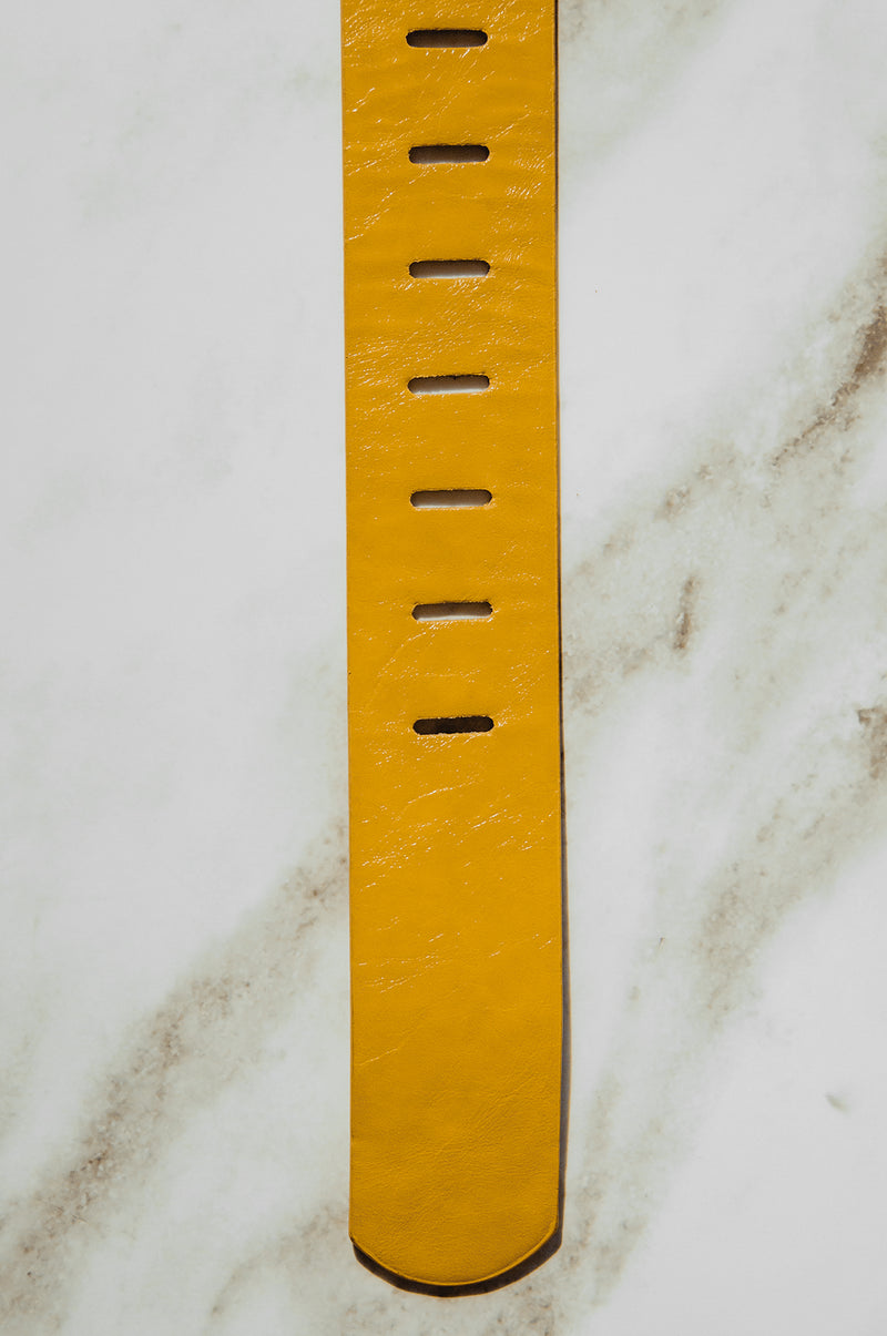 Mustard Clip Buckle Belt