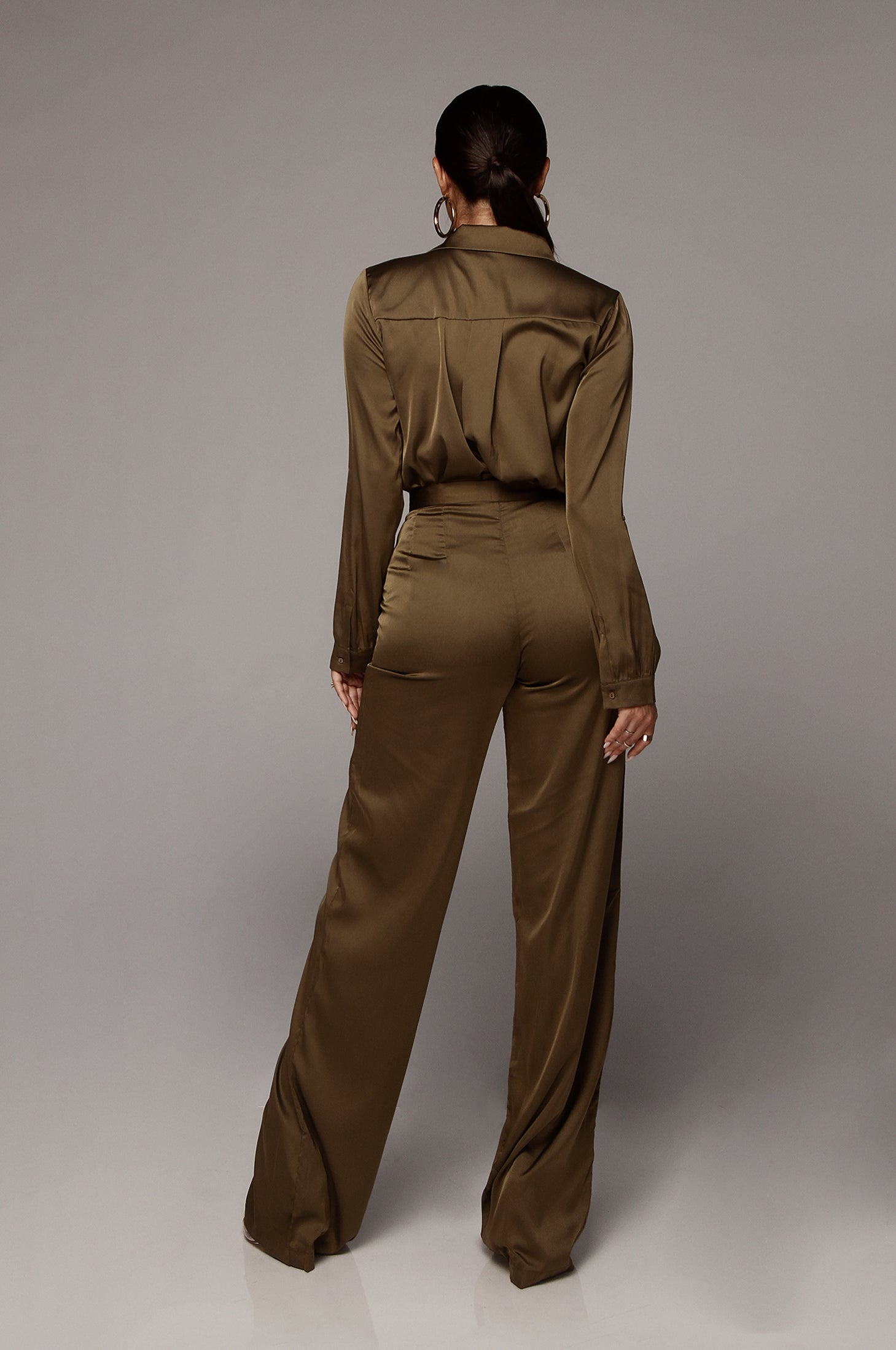 Olive Perfect Silk Pants