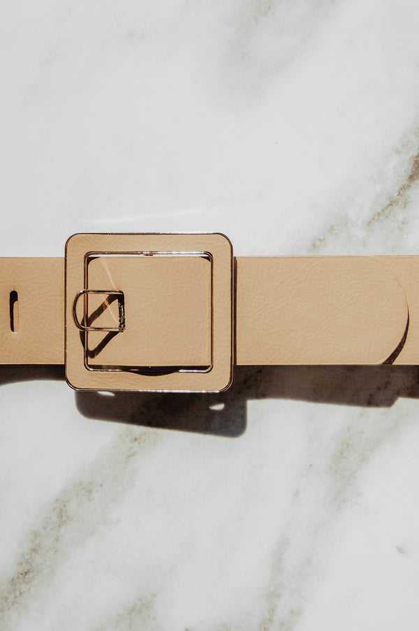 Tan Clip Buckle Belt