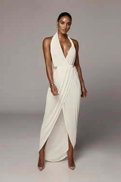 Ivory Mckenna Backless Dress