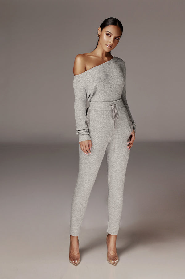 Grey Casedi Slouchy Sweater set