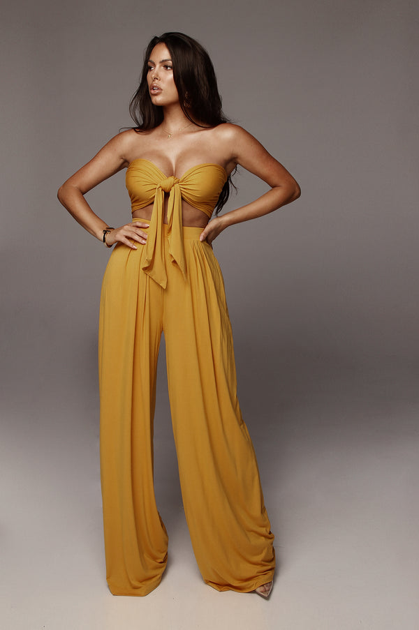 Mustard Tory Two Piece Set