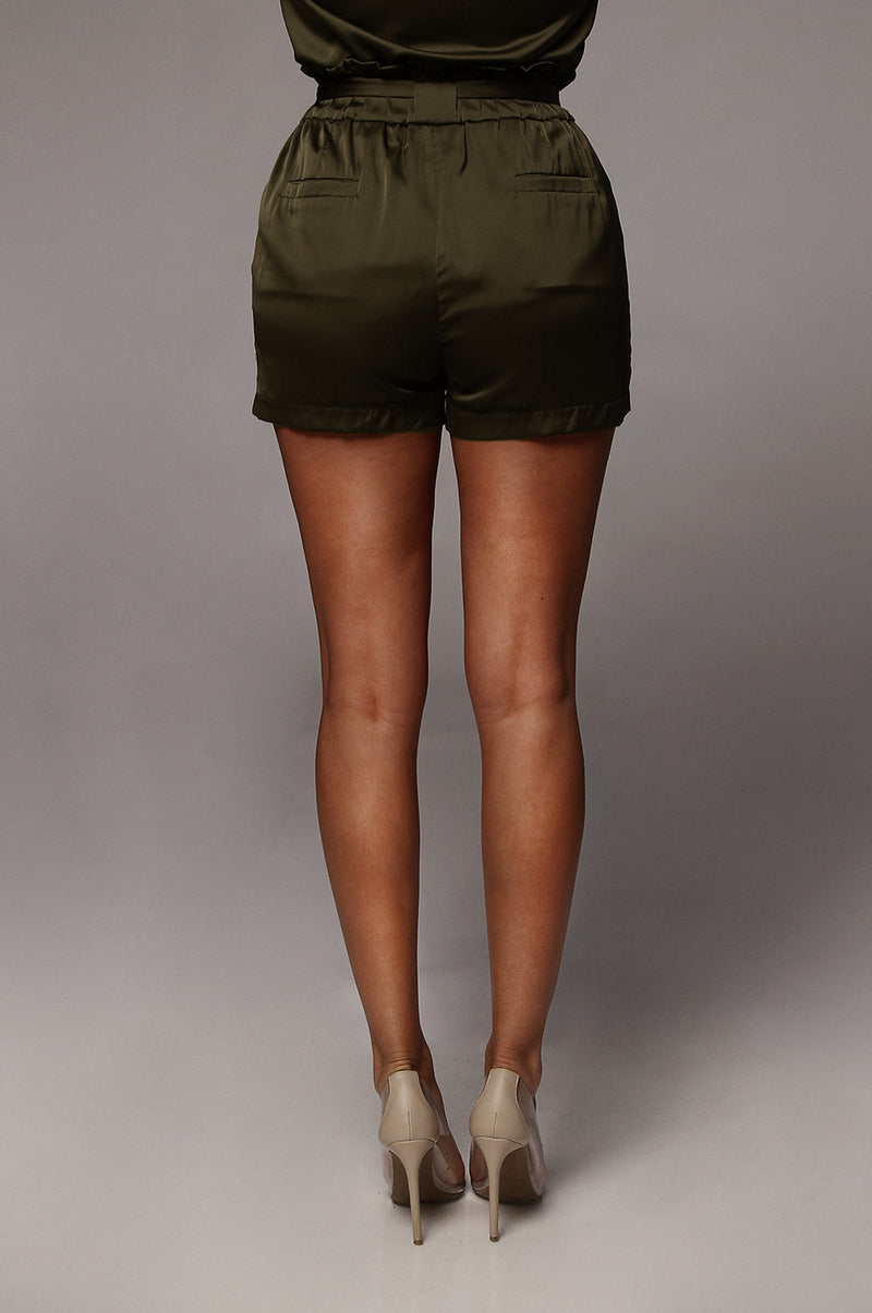 Olive Emilee Satin Shorts