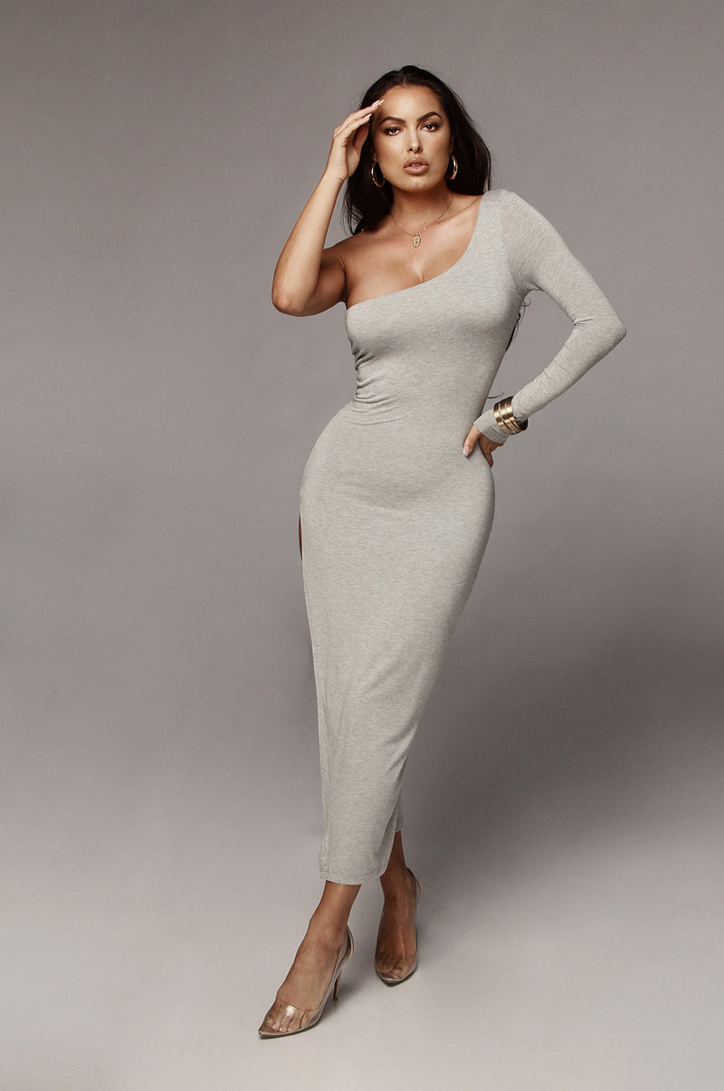 Grey Jules JLUXBASIX High Slit Dress
