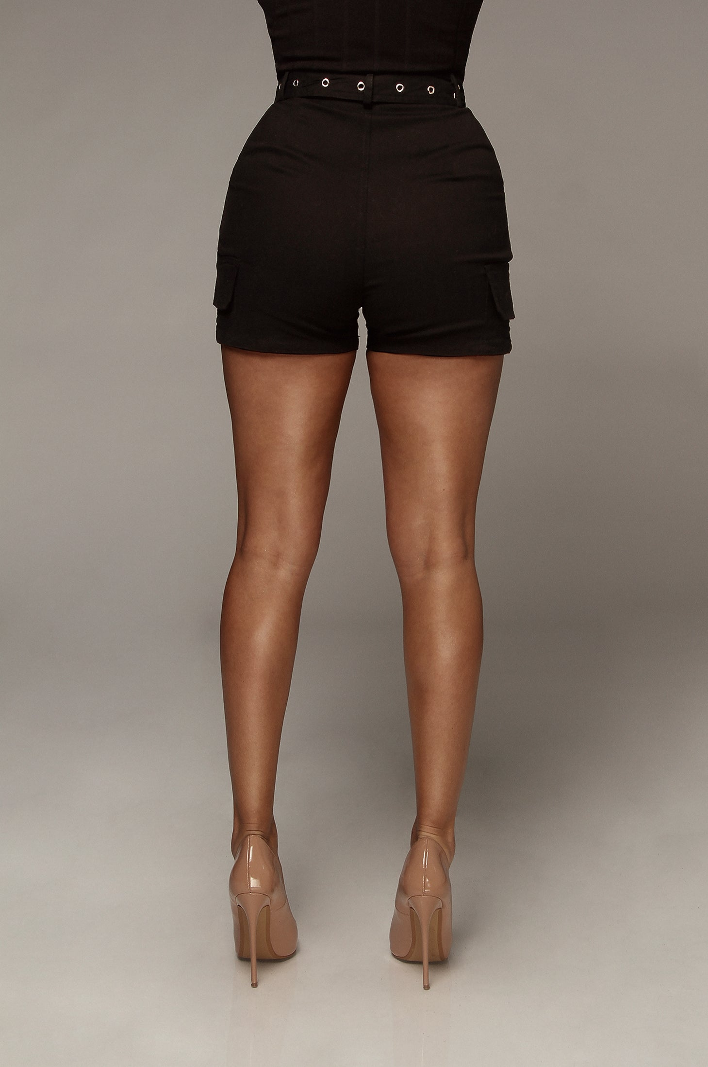 Black Let's Adventure Shorts