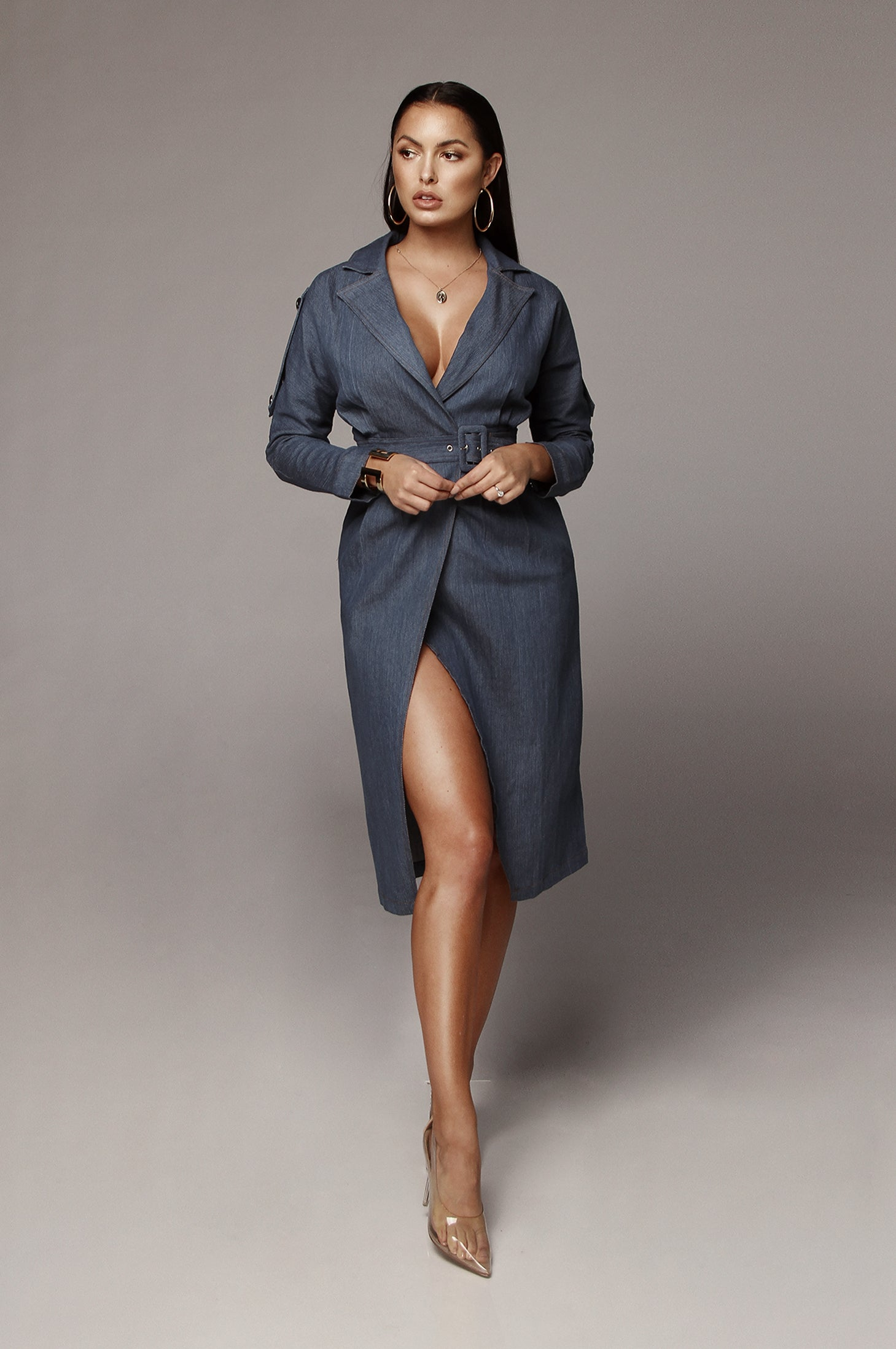 Kelly Denim Wrap Dress