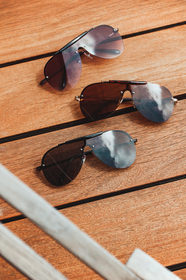 Black Kadeya Aviator Sunglasses