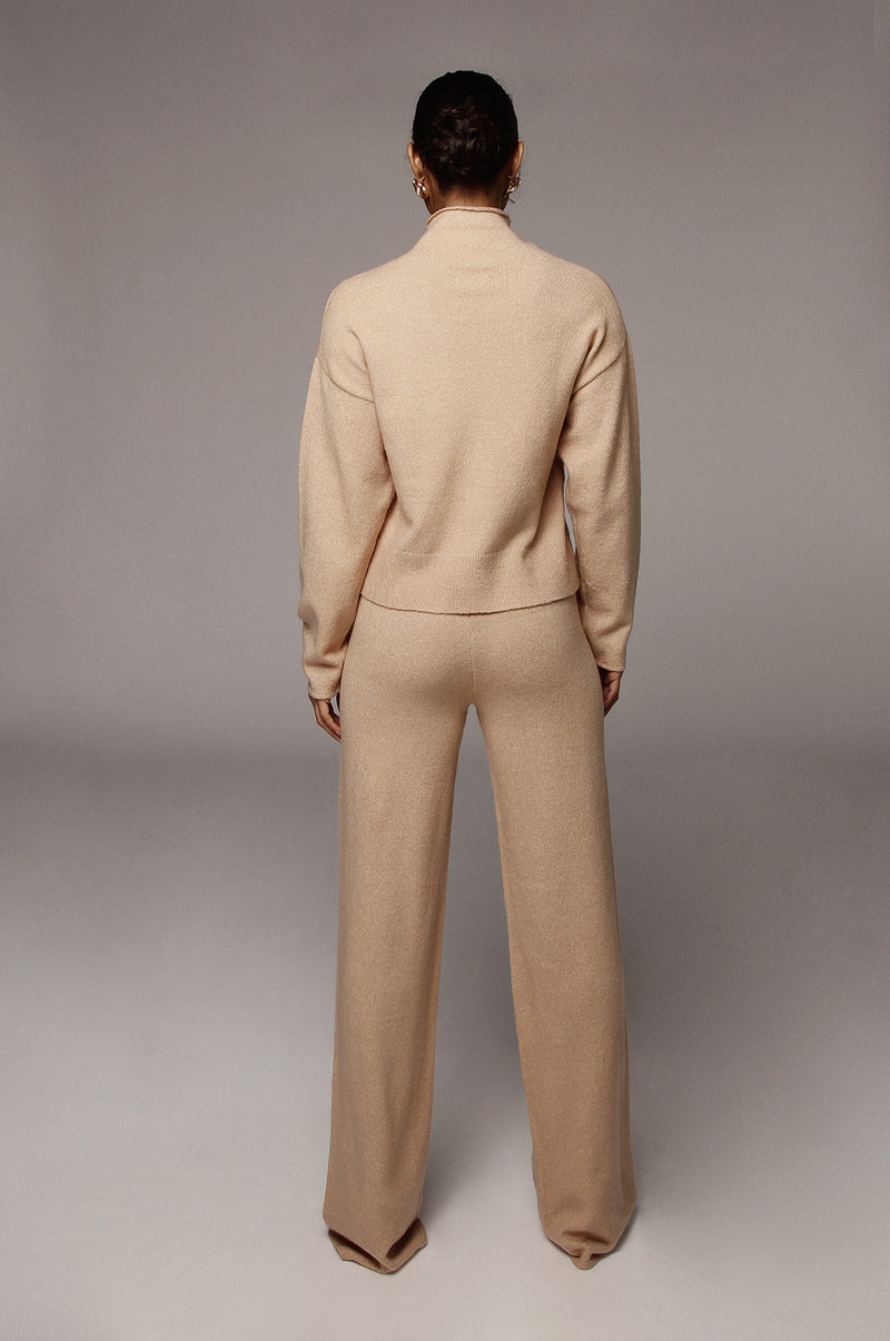 Taupe Elle Sweater Pants