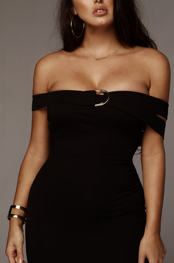 Black Karina Strap Dress