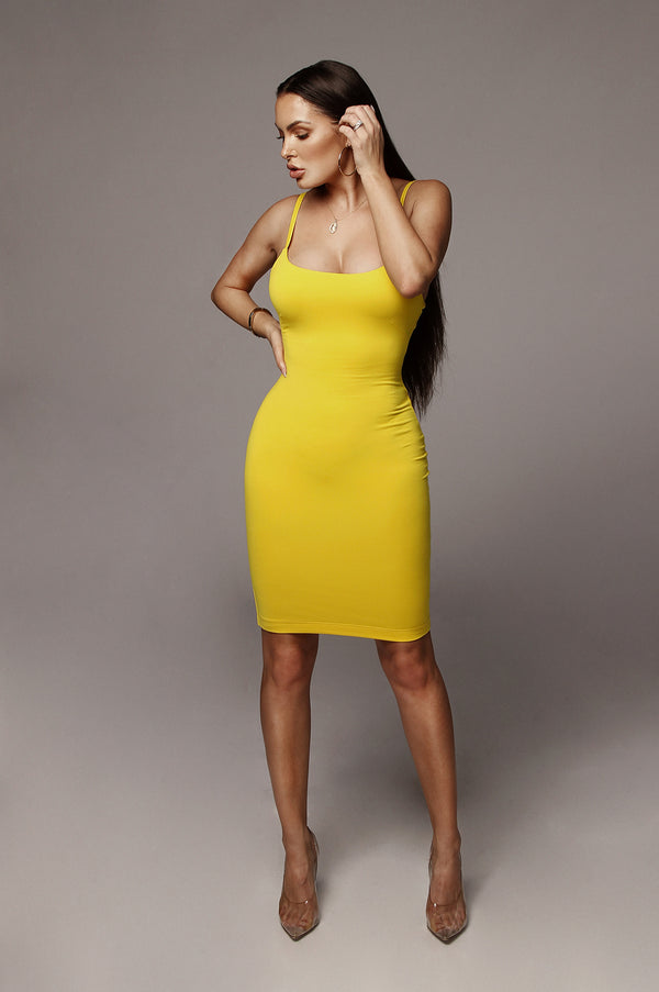 Yellow Saidey JLUXBASIX Dress