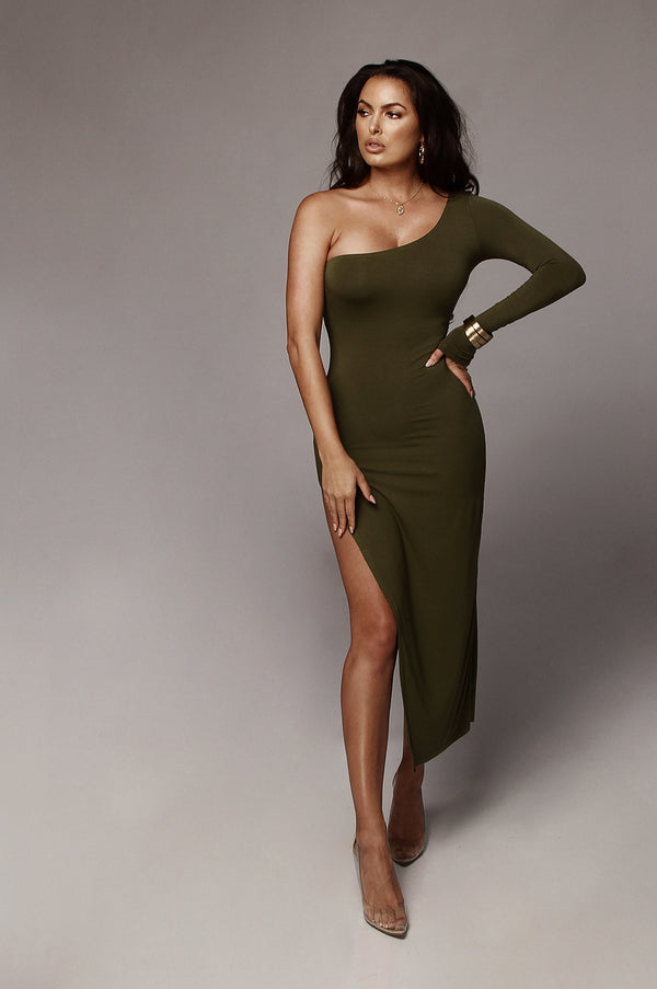 Olive Jules High Slit Dress