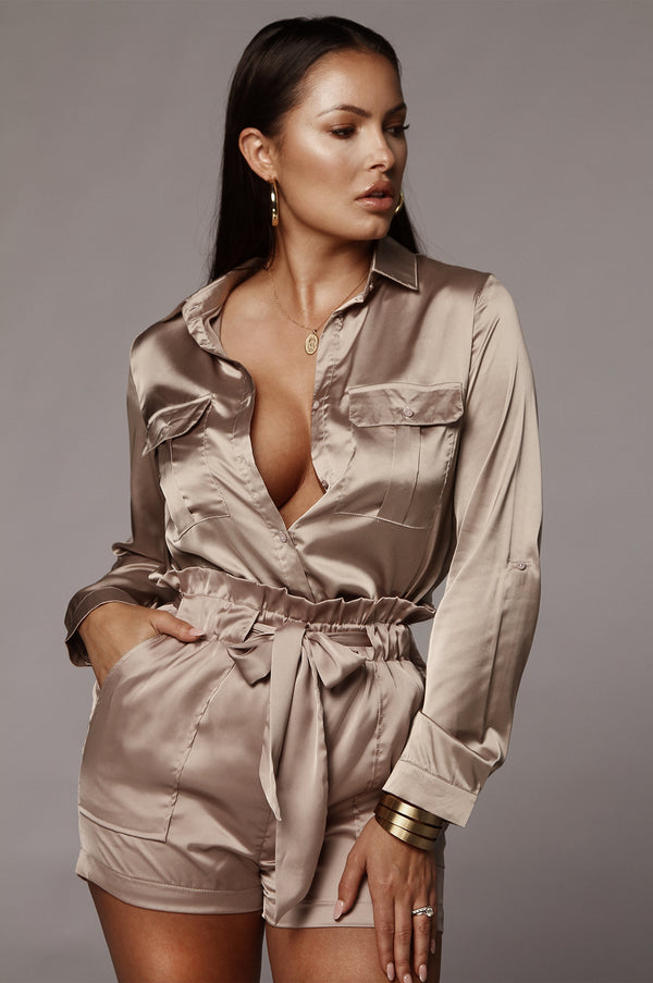 Sandy Grey Ivey Silky Blouse