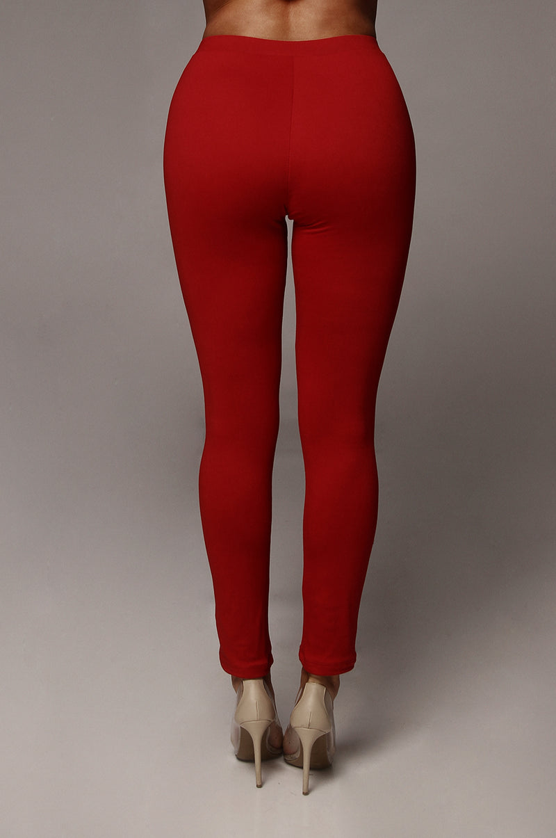 Red JLUXBASIX Soft Leggings