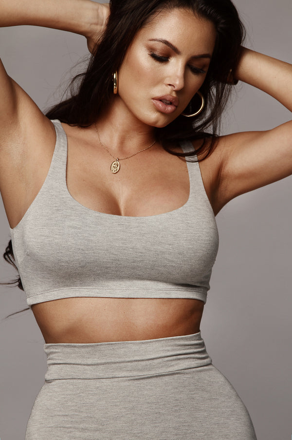 Grey Elise JLUXBASIX Crop Top