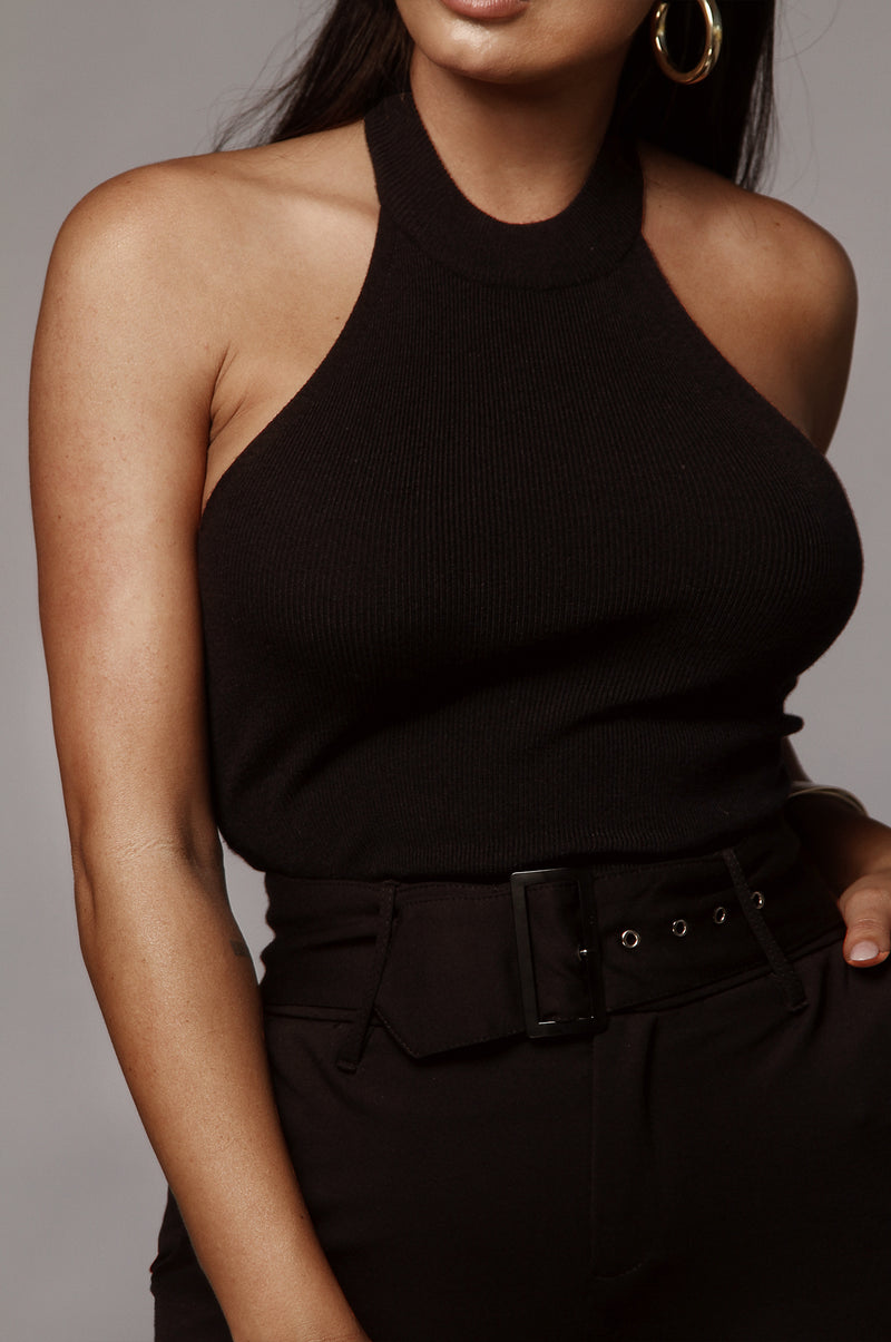 Black London Contrast Top
