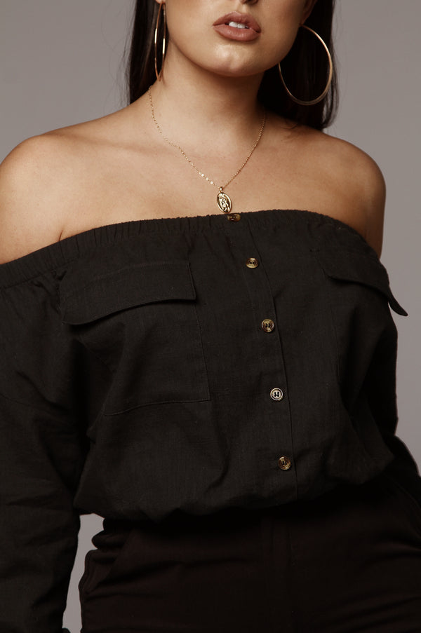Black Dixie Off Shoulder Top