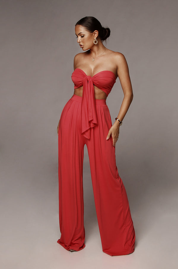 Deep Coral Tory Two Piece Set
