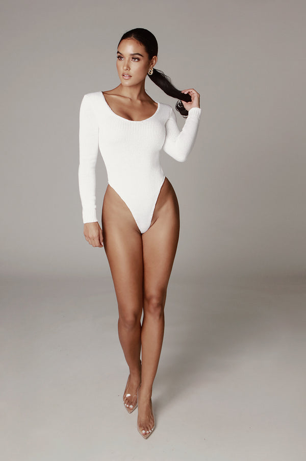 Ivory Alize Sweater Bodysuit