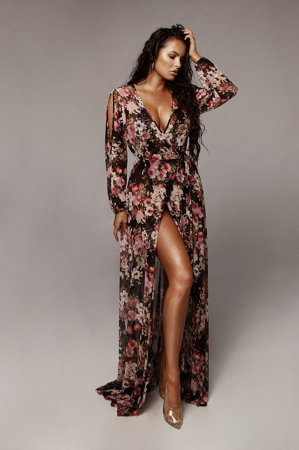Black Rose Garden Sheer Duster