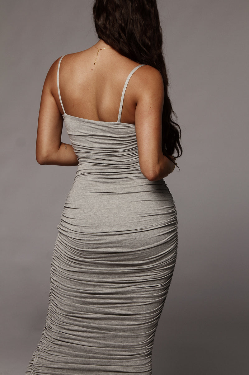 Grey Natalia Ruched Dress