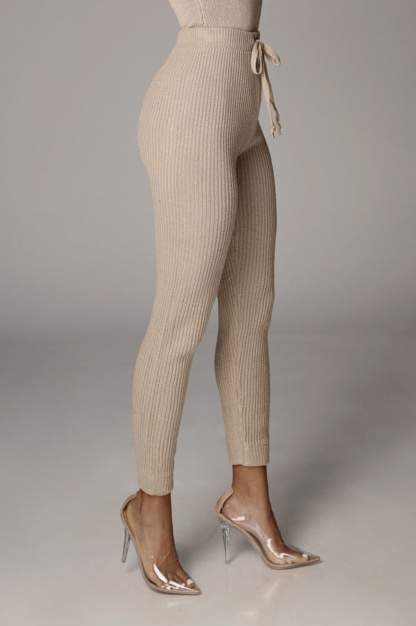 Tan Roads Knit Joggers
