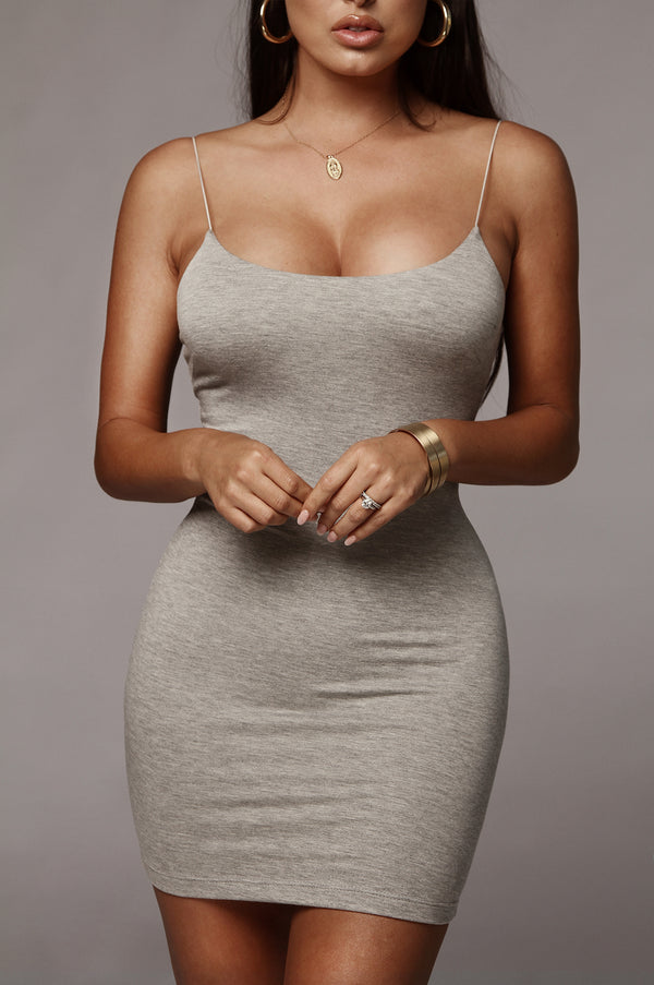 Grey Amaria JLUXBASIX Mini Dress