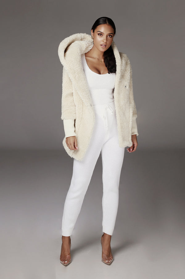 Ivory Legend Faux Shearing Jacket