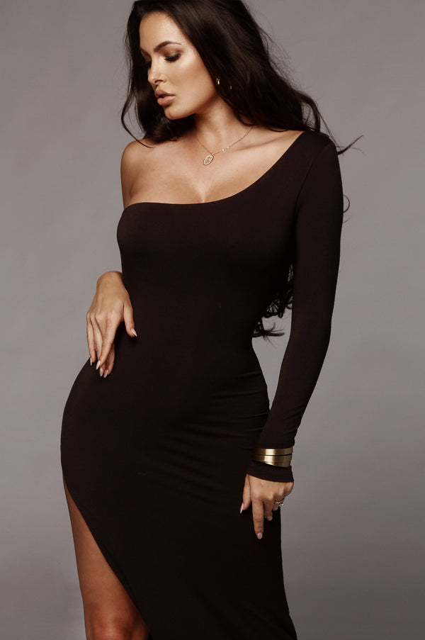 Black Jules High Slit Dress