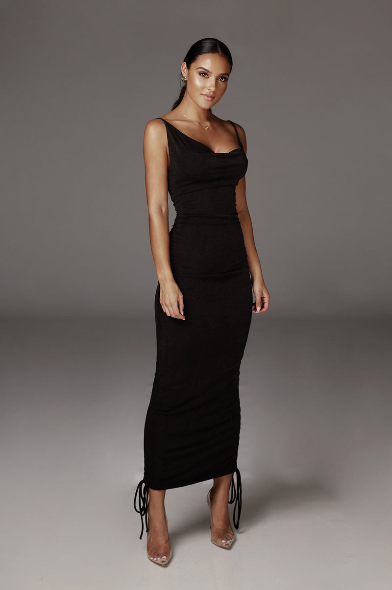 Black Wojek Slinky Dress